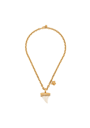 Versace shark tooth chain necklace - Gold