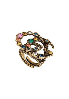 Gucci Crystal Double G ring - Gold
