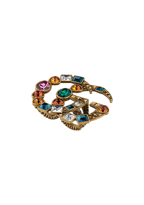 Gucci Crystal Double G multi-finger ring - Gold