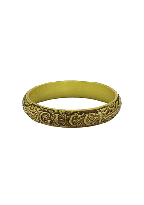 Gucci logo carved bangle - Green