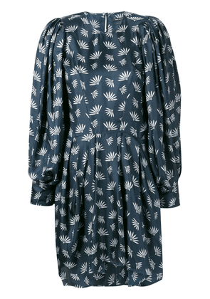 Isabel Marant wheat fan print dress - Blue
