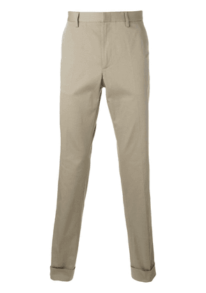 Gucci bee embroidered classic chinos - Neutrals