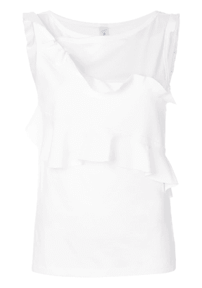 Carven double flounce top - White