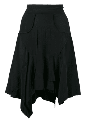 Isabel Marant draped asymmetric skirt - Black