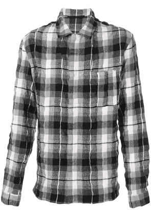 Haider Ackermann creased effect plaid shirt - Black