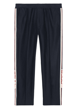 Gucci Jogging pant with Gucci stripe - Blue