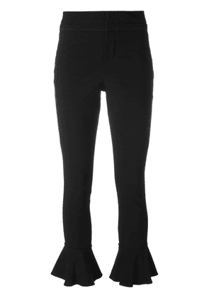 Isabel Marant kick flare soft trousers - Black