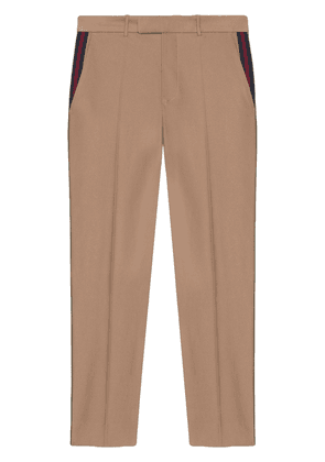 Gucci 60s pant with Web - Neutrals