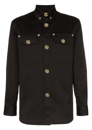 Versace Stretch denim button down shirt - Black