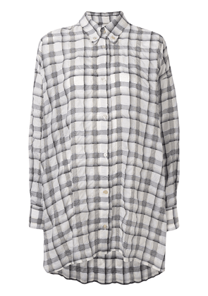 Isabel Marant oversized checked button up shirt - Neutrals