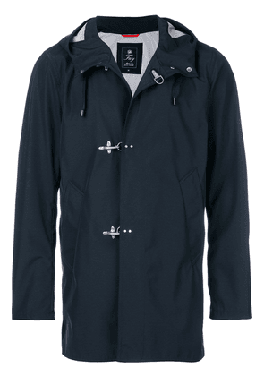 Fay hooded toggle fastening coat - Blue