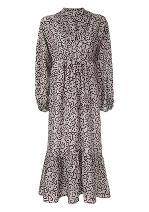 Christian Wijnants printed midi dress - Grey