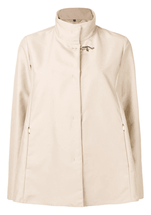 Fay concealed front jacket - Neutrals