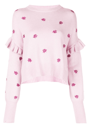Cinq A Sept Lorelei floral embroidered jumper - Purple