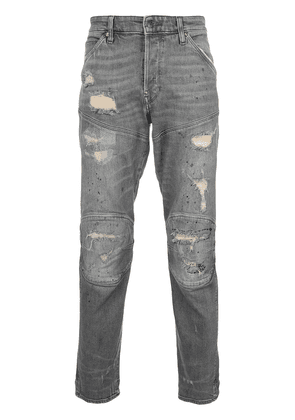 G-Star panelled distressed jeans - Grey