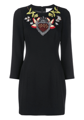 Cinq A Sept Josephine embroidered dress - Black