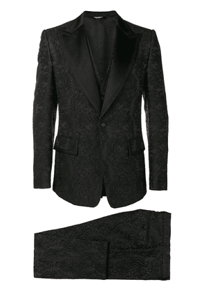 Dolce & Gabbana Lace three-piece suit - Black