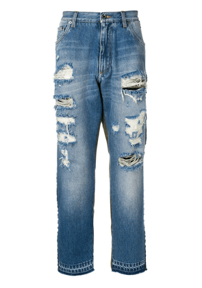 Dolce & Gabbana Camouflage-detail jeans - Blue