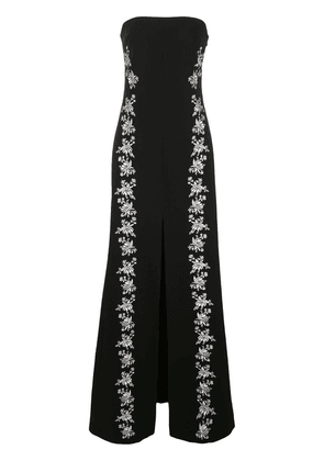 Cinq A Sept Eva floral embroidered gown - Black
