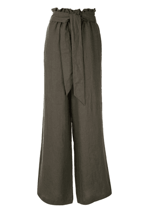 Asceno belted wide leg trousers - Green