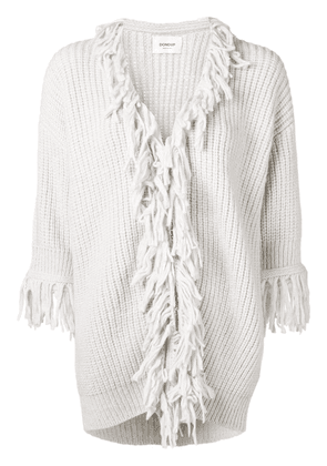 Dondup fringed hem zip cardigan - Grey