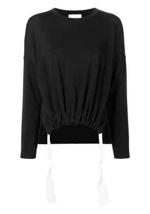 Dondup elasticated tie waist top - Black