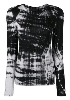 Diesel Black Gold long-sleeve T-shirt with tie-dyed stripes