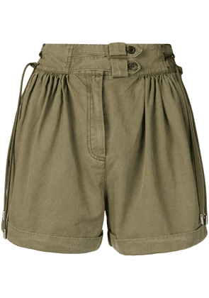 Diesel Black Gold pleated wide shorts - Green