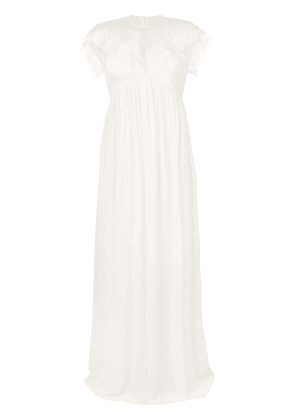 Giambattista Valli long empire-line dress - White
