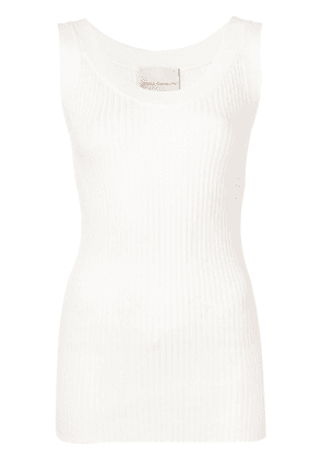 Erika Cavallini plain tank-top - White