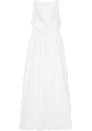 Three Graces London - Pearl Silk Satin-trimmed Cotton-voile Nightdress - White