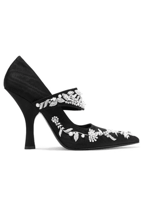 Erdem - Idetta Embellished Moire Pumps - Black