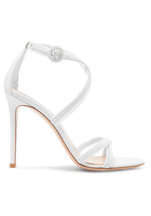 Gianvito Rossi - 100 Leather Sandals - White