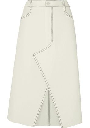 Dion Lee - Shadow Stitch Bonded Crepe Midi Skirt - Ivory