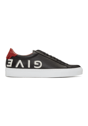 Givenchy Black & Red Reverse Urban Knots Sneakers