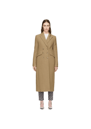 Alexachung Tan Double-Breasted Tailored Coat