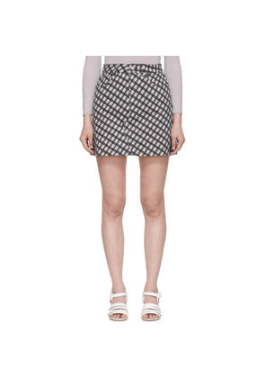 Alexachung Black & White Denim Check Miniskirt