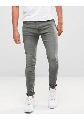 Jack & Jones Intelligence skinny jeans in washed grey