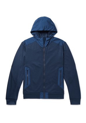 Sease - Upwind Panelled Virgin Wool And Shell Zip-up Hoodie - Navy