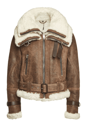 Burberry Leather Jacket with Shearling
