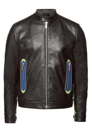 Dsquared2 Lambskin Biker Jacket with Mesh Detailing