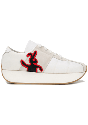 Marni rabbit patch sneakers - White