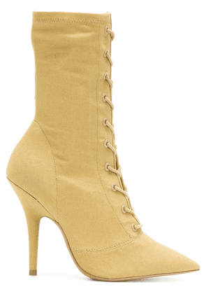 ebb259cad68 Yeezy Season 6 lace-up ankle boots - Yellow