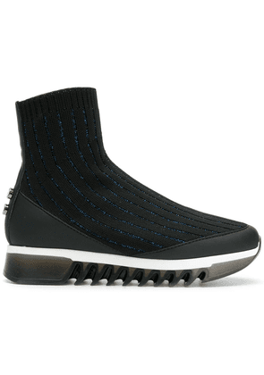 Alexander Smith sock high ankle sneakers - Black