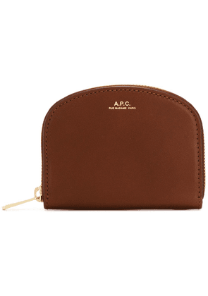 A.P.C. zip around purse - Brown