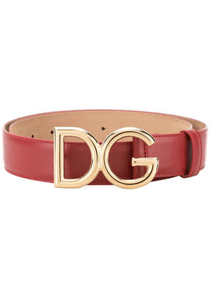 Dolce & Gabbana branded buckle belt - Red