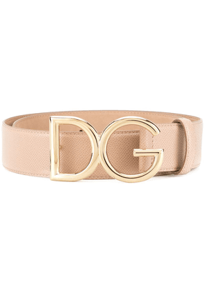 Dolce & Gabbana branded buckle belt - Neutrals