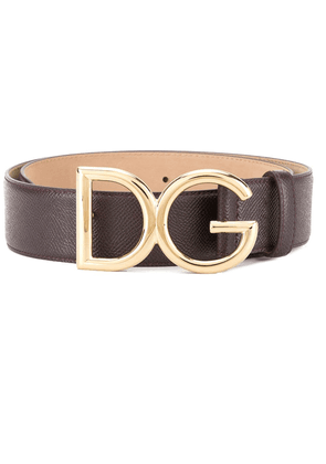 Dolce & Gabbana branded buckle belt - Purple