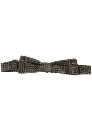 Dolce & Gabbana dotted circles patterned bow tie - Black