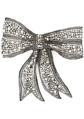 Dolce & Gabbana crystal embellished bow tie - Silver